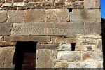 Inscription sur mur sud : Mallissandro fecet ....(signes illisibles) 1600, date de la reconstruction ?