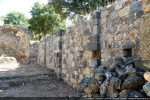 Intérieur du mur sud présentant des niches (comme le mur nord)
