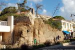 Vue du rocher sur lequel était érigé la basilique (boulevard de la République)