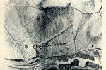 Plan de la ville en 1768: l'ancienne basilique est notée en pointillé avec la chapelle au centre (publié par G. Moracchini-Mazel; archives du Génie, dépôt de Vincennes)