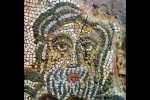 Détail de la mosaïque du baptistère: figuration de l'océan (fin 5e-début 6e siècle)