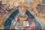 La Trinité: détail de Dieu le Père entouré du soleil et de la lune