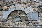 Arc à claveaux de la porte nord (murée)
