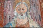 Détail du Christ et, en fond, de la Jérusalem céleste