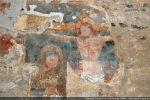 Crucifixion (mur nord) et Vierge des Douleurs