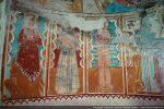Saints et saintes: Marguerite (dans la gueule d'un dragon), Bernardin de Sienne, Sébastien (flèches)