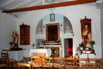 Vue de l'intérieur avec mur masquant l'abside
