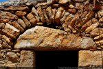 Détail du linteau en bâtière
