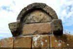 Seul vestige de l'arcature décorant l'abside