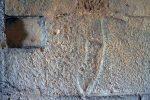 Pas ou poisson sur le mur nord (partie inférieure du mur)