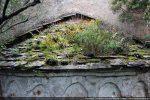 Sous la toiture, une corniche faite d'une double rangée de pierres mises en avancée