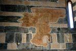 Restes de fresque sur le mur nord