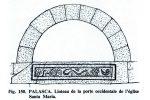 Dessin du linteau publié par G. Moracchini-Mazel
