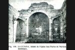 Intérieur de l'église San Parteo avant restauration (photo publiée par G. Moracchini-Mazel)