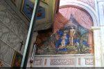 Baptême du Christ, peinture et draperie en trompe l'oeil