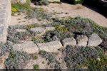 Clôture tardive refaite avec des pierres de remploi