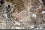 Fragment de fresque: élément floral stylisé (?)