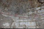 Vestige de fresque: motif en zig-zag