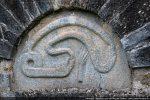 Tympan sculpté: serpent