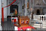 Sainte Restitude et le cénotaphe dans l'église Saint Blaise à Calenzana