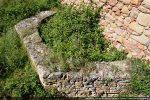 Vue de l'abside circulaire à l'intérieur, à pans coupés à l'extérieur appartenant à une villa romaine du milieu du 4e siècle