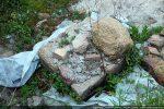 Vestiges d'un des piliers délimitant une travée