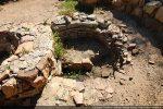Détail de la première cuve baptismale datant du 6e siècle