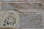Détail du panneau d'information : plan de l'édifice du 6e siècle