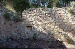 Intérieur du mur nord avec niche
