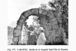 Etat de l'abside et du fronton est avant remontage (photo publiée par G. Moracchini-Mazel)