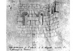 Dessin de Bessières (1856) avec mention chapelle ruinée (Manuscrit, Bibliothèque de Bastia)
