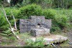 Fontaine construite en partie avec les blocs de la chapelle San Martino