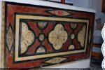 Devant d'autel  (caché par l'autel contemporain): magnifique exemple de stuc lustré