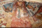 Au centre de l'abside: le Christ en majesté entouré du Tétramorphe