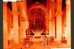 Intérieur de la cathédrale du Nebbio, vers 1900 (cliché Tito de Caraffa © Ville de Bastia-collection Palais Caraffa)