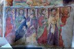 Cortège des apôtres: Tadée (de profil), Jacques le Majeur, Mathieu, Philippe, Jacques le Mineur, un apôtre