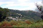 Vue vers Lucciana et, à l'arrière-plan, Borgo