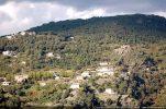 Le village de Morosaglia vu de Castineta (l'église Santa Reparata se trouve sur la droite)