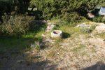 Angle nord-est: situation de la tombe du 4e siècle. D'autres tombes indiquent une utilisation funéraire du site