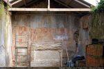 Chevet plat de la chapelle décoré de fresques