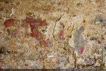 Fresques (partie droite): deux apôtres (un visage sur fond rouge, l'autre en bleu)