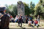 Visite du site par Stéphane Orsini lors de la séance d'hommage à Madame Moracchini-Mazel (18 mai 2014)