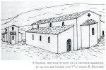Reconstitution publiée par G. Moracchini-Mazel: basilique et baptistère