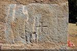 Petite croix gravée dans l'angle sud-ouest