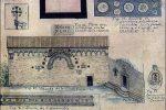 Détail de la planche VII de Gaubert: façade occidentale sans la représentation des deux portes (coggia.com)