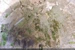 La voûte en cul de four est recouverte d'un enduit et porte des traces de fresques