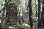 Mur ouest en partie écroulé