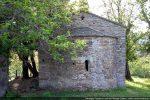 Abside restaurée et fronton est remonté par la FAGEC et l'association REMPART en 1997