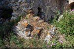 Arase du mur ouest (angle nord-ouest) fait de petits blocs bien taillés