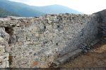 Intérieur du mur sud composés de petites pierres éclatées